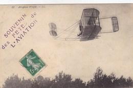 Dijon - Souvenir Des Fêtes D'Aviation - Aéroplane Wright - Avions