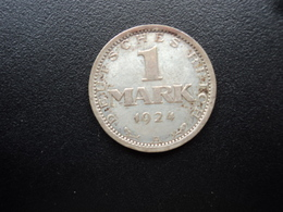 ALLEMAGNE : 1 MARK   1924 A    KM 42 *     TTB+ - [ 3] 1918-1933 : Weimar Republic