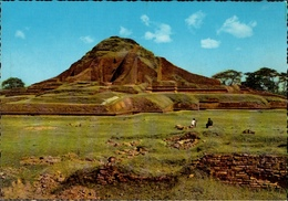 !  Modern Postcard Archaeological Site, Archäologie, Temple, Paharpur, Ruinen Des Buddhistischen Tempels, Budhismus - Bangladesch