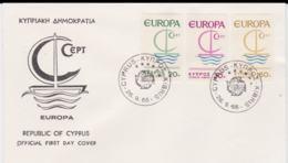Cyprus 1966 FDC Europa CEPT (G55-28) - Europa-CEPT