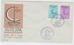 Turkey 1966 FDC Europa CEPT (G55-28) - Europa-CEPT
