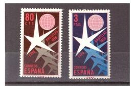 SPAGNA - 1958 - ESPOSIZIONE UNIVERSALE DI BRUXELLES. SERIE COMPLETA. MNH** - 1931-Oggi: 2. Rep. - ... Juan Carlos I
