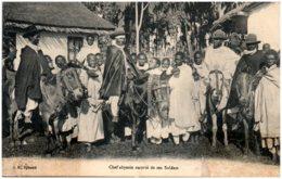 DJIBOUTI - Chef Abyssin Escorté De Ses Soldats - Gibuti