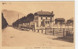 PISOGNE-BRESCIA-LAGO D'ISEO-VIALE STAZIONE-CARTOLINA VIAGGIATA TRA IL 1925-935 - Brescia