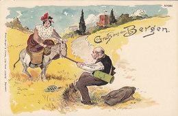 Gruss Aus Den Bergen - Litho - Sign.A.F. -  Nicht Häufig        (A-95-160109) - Gruss Aus.../ Grüsse Aus...
