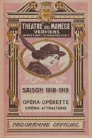 VERVIERS 1918/19 THEATRE DU MANEGE - Programmes