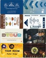 8  Different Cards-----Hotel--key Card, Room Key, Schlusselkarte, Hotelkart - Cartas De Hotels