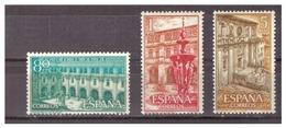 SPAGNA - 1960 - MONASTERO REALE DI SAMOS. SERIE COMPLETA. MNH** - 1931-Oggi: 2. Rep. - ... Juan Carlos I