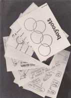 Lot 8 CPSM 1980:Boycott JO:2 CP Lesueur:6 CP Filipandré - Olympische Spelen