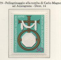 PIA - GERMANIA - 1979 : Pellegrinaggio Alla Tomba Di Carlo Magno Ad Acquisgrana  -  (Yv 863) - BRD