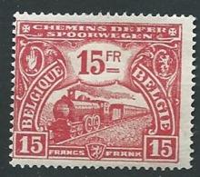 Belgique Chemin De Fer     - Yvert N° 126  (*)  -  Ah 29713 - 1915-1921