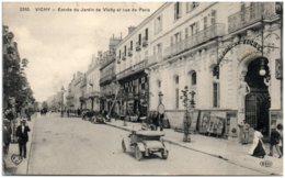 03 VICHY - Entrée Du Jardin De Vichy Et Rue De Paris - Vichy