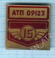 USSR / Badge / Soviet Union / UKRAINE Auto Transport Company 15 Years Taxi. KIEV. - Other