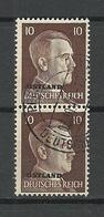 ESTLAND Estonia 1943 Ostland German Occupation Michel 19 Als Paar O Deutsche Dienstpost Pernau Pärnu - Estland