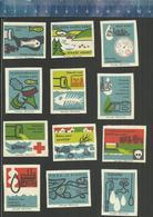 CISTOTA VODNICH TOKÚ BESCHERM MILIEU PROTECTION ENVIRONNEMENT PROTECT THE ENVIRONMENT Former CZ Matchbox Labels 1967 - Luciferdozen - Etiketten