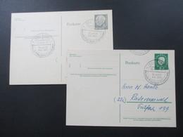 BRD 1959 Heuss Ganzsachen Mit SST Bonn 1 Besuch Präsident Eisenhower 26. Und 27. Aug. 1959 - BRD