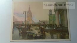 D165095 Automobile -auto Car - Voiture - Moscow Russia URSS  -Taxi Cab - Taxi & Carrozzelle