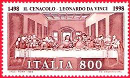 Italia 1998: IL CENACOLO - LEONARDO DA VINCI (1452-1519) Sassone 2336 Michel 2556 ** MNH - Paintings