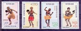 Centrafrique 1971 YT 139/142 Danseuses Traditionnelles N** MNH - Zentralafrik. Republik