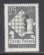 Finland 1952 - 10. Schach-Olympiade, Mi-Nr. 412, MNH** - Finland