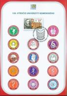 Slovakia - 2019 - 100th Anniversary Of Comenius University - Special Commemorative Sheet - Slovaquie