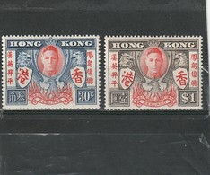 Hong Kong Neuf * 1946 N° 167/168  Anniversaire De La Victoire - Neufs