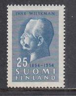 Finland 1954 - Ivar Wilskman, Mi-Nr. 421, MNH** - Finland