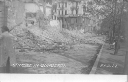 Strasse In  Carte Photo Charleroi - Charleroi