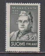 Finland 1944 - Minna Canth, Mi-Nr. 282, MNH** - Finland