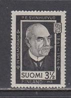 Finland 1944 - P.E. Svinhufvud, Mi-Nr. 284, MNH** - Finland