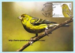 PORTUGAL - MADEIRA EUROPA CEPT NATIONAL BIRDS Serinus Canaria MAXIMUM CARD - Maximumkaarten