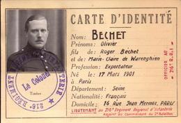 Militaire, Carte D Identite, Laissez Passer, 216° Regiment  D Infanterie, 1939, Lot De 2 Documents    (etat Voir Photos) - Documents