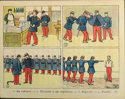 Chromo > Fiche Illustrée > Les Dangers De L'Alcoolisme - L'Alcoolisme Dans L'Armée - Dr Galtier-Boissière - TBE - Fichas Didácticas