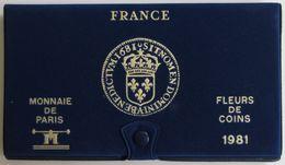 28465g MONNAIE DE PARIS - SERIE FLEURS DE COINS 1981 - Boite D'origine - France