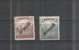 Ungheria PO 1918/19 Contadini Surch Scott 153+154+155+156+ See Scan Album Scott - Ungheria