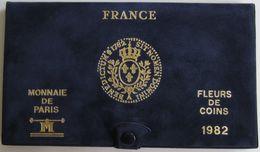 28466g MONNAIE DE PARIS - SERIE FLEURS DE COINS 1982 - Boite D´origine - France