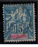 REUNION        N°  YVERT    37     OBLITERE       ( O   2/24 ) - Reunion Island (1852-1975)