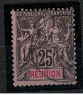 REUNION        N°  YVERT    39     OBLITERE       ( O   2/24 ) - Reunion Island (1852-1975)