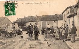 HERMEVILLE-EN-WOEVRE LA GRANDE PLACE - Francia