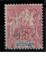 REUNION        N°  YVERT    47     OBLITERE       ( O   2/24 ) - Reunion Island (1852-1975)