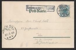 1905 ÖSTERREICH - BODENSEESCHIFFSPOST Nach WIEN - AUF KÜNSTLERPOSTKARTE LITHO BREGENZ LEUCHTURM OTTMAR ZIEHER - 1850-1918 Imperium