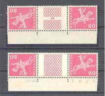 Schweiz / Helvetia  Michel #  698 **  2 X 3-er Streifen - Cajas Para Sellos