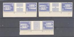 Schweiz / Helvetia  Michel #  704  **  3 X 3-er Streifen - Cajas Para Sellos