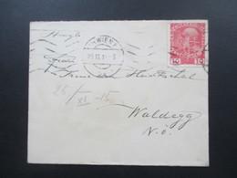 Österreich 1915 Nr. 144 Mit Firmenlochung / Perfin Rückseitig Vignette Schwarz Gelbes Kreuz 1914 Wien - Waldegg - 1850-1918 Imperium