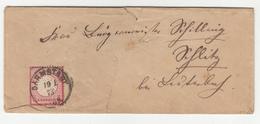 Germany Reich Letter Cover Travelled 1873 Darmstadt To Schlitz B190715 - Deutschland