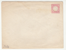 Germany Reich 1 Groschen Postal Stationery Letter Cover Unused B190715 - Germania