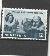 Montserrat  Neuf * 1964  N° 155  4e Centenaire Naissance De Shakespeare - Montserrat