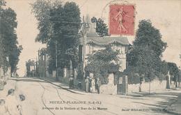 93) NEUILLY-PLAISANCE : Avenue De La Station Et Rue De La Marne (1906) - Neuilly Plaisance
