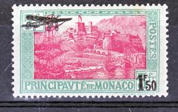 Monaco PA   1  Surchargé Avion Neuf Avec Trace De Charnière* TB MH CoN CHARNELA Cote 30 - Poste Aérienne