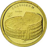Monnaie, Mongolie, Colisée, 1000 Tugrik, 2008, Proof, FDC, Or - Mongolie